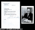 Autographs, Norman Vincent Peale Signed Photo & Letter Lot