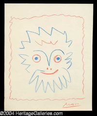 Pablo Picasso Original Drawn & Signed Sketch - A fantastic investment grade relic for the connoisseur of art and aut...