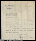 Autographs, William A. Pinkerton Typed Letter Signed