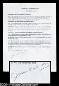 Autographs, James Earl Ray Signed Typescript w/ Great Content