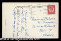 Autographs, Man Ray Rare Handwritten Note Signed