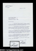 Autographs, Eddie Rickenbacker Signed Letter to Roscoe Turner!