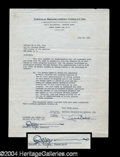 Autographs, Robert Ripley Signed Document