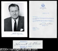 Autographs, Nelson Rockefeller Great Signed Photo