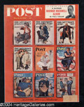 Autographs, Norman Rockwell Signed Sat. Evening Post Cover