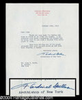 Autographs, F. Cardinal Spellman Typed Letter Signed