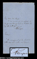 Autographs, Alfred Lord Tennyson Handwritten Letter Signed