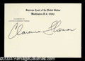 Autographs, Clarence Thomas Signed Supreme Court Card