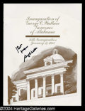 Autographs, George C. Wallace Signed Inauguration Program