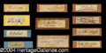 Autographs, War of 1812: The Naval Heros Signature Collection