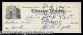 Autographs, Sgt. Alvin York (WWI) Rare Signed Bank Check