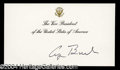 Autographs, George Bush (Sr.) Signed Vice President Card
