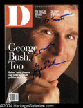 Autographs, George W. Bush In-Person Signed Magazine