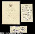 Autographs, Jimmy Carter Original Presidential Inauguration Invitation