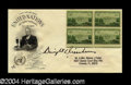 Autographs, Dwight Eisenhower Signed First Day Cover