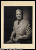 Autographs, Dwight D. Eisenhower Impressive Bachrach Portrait Photo