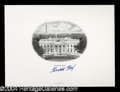 Autographs, Gerald R. Ford Signed White House Engraving