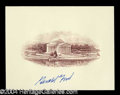 Autographs, Gerald R. Ford Signed Engraving