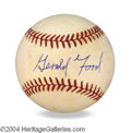 Autographs, Gerald R. Ford Signed Baseball