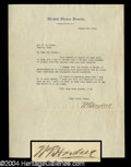 Autographs, Warren G. Harding Typed Letter Signed