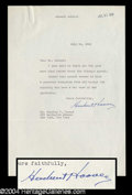 Autographs, Herbert Hoover Typed Letter Signed