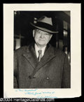 Autographs, Herbert Hoover Large Signed Photograph