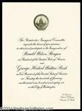 Autographs, Ronald Reagan Official Presidential Inauguration Invitation