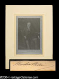 Autographs, Woodrow Wilson Signed Steel Engraving