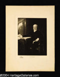 Autographs, John Quincy Adams Original 1901 Engraving