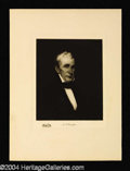 Autographs, William Henry Harrison Original 1901 Engraving