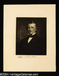 Autographs, Andrew Johnson Original 1901 Engraving