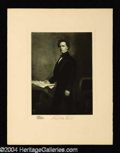 Autographs, Franklin Pierce Original 1901 Engraving