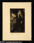 Autographs, George Washington Original 1901 Engraving