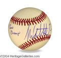 Autographs, Michael Andretti In-Person Signed Baseball