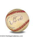 Autographs, Tom Arnold In-Person Signed Baseball