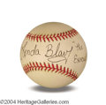 Autographs, Linda Blair In-Person Signed Baseball