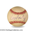 Autographs, Bill Bradley In-Person Signed Baseball