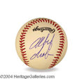 Autographs, Albert Brooks In-Person Signed Baseball