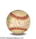 Autographs, Gary Busey In-Person Signed Baseball
