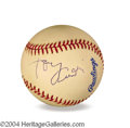 Autographs, Tony Curtis In-Person Signed Baseball
