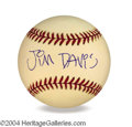 Autographs, Jim Davis In-Person Signed Baseball