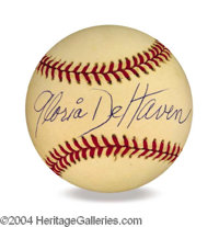 Gloria De Haven In-Person Signed Baseball - Signed in 1992 at the VSDA Convention in Las Vegas, NV. Est. 65-85
