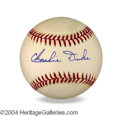 Autographs, Charlie Duke Signed Baseball