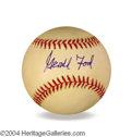 Autographs, Gerald R. Ford In-Person Signed Baseball