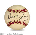 Autographs, Dennis Franz In-Person Signed Baseball