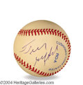 Autographs, Frank Gifford In-Person Signed Baseball