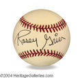 Autographs, Rosey Grier In-Person Signed Baseball