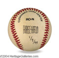 Autographs, Al Hirschfeld In-Person Signed Baseball