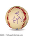 Autographs, Bob Hope In-Person Signed Baseball
