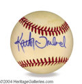 Autographs, Kathy Ireland In-Person Signed Baseball